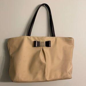 Kate Spade New York Nylon Tan Tote Bag Medium